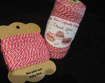 Hot Pink and Baby Pink Bakers Twine - 12 ply, 100% cotton Bakers Twine - full 100 yard spool