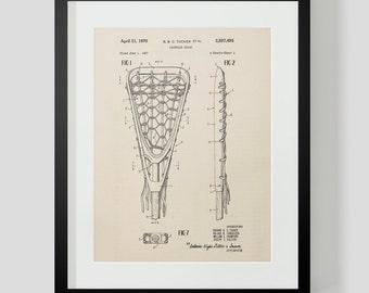 Lacrosse Stick Vintage Patent Print 4