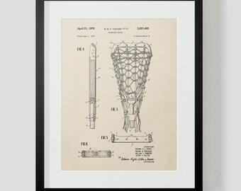 Lacrosse Stick Vintage Patent Print 5