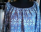 Plus Size Blue Geometric Mini Dress OS