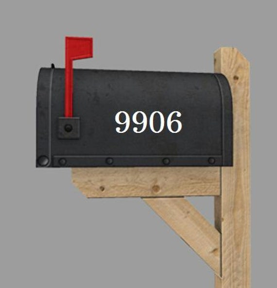 One custom mailbox / house number vinyl decal with up to 4 house numbers- you pick the color.