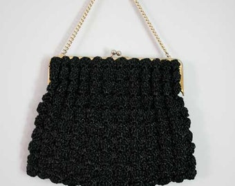 Black vintage purse