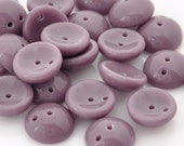 Pressed Beads-4x8mm Piggy Beads-Opaque Lilac-Quantity 24