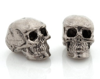 Casting-Pewter-15x13mm Skull-Antique Silver-Quantity 1