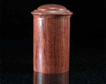 Bubinga Lidded Vessel BB-0014