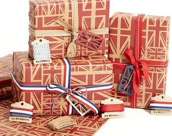 Union Jack Red Wrapping Paper