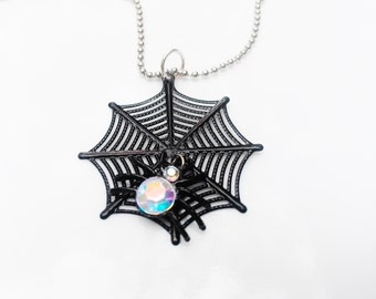 Halloween Necklace Jewelry Black Cat Ghost or Spiderweb Holiday Women Teen Girl Tween Girl by Absolute Jewelry