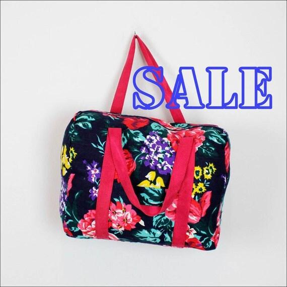 floral canvas duffel bag | printed weekender bag