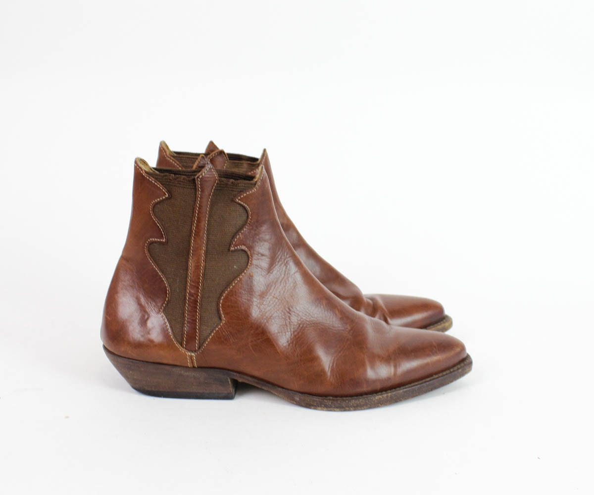 leather chelsea boots 6 5 joan and david western by omniavtg