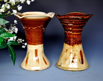 25% Off Seconds Pair of Small Flared Vases