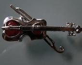 Vintage Violin Brooch