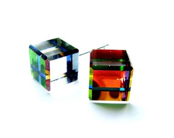 Color Changing 3D Cube Earrings