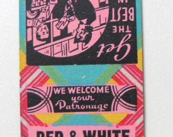 1940s Lucky  Page Red White Food Store Woodlawn Beach NY