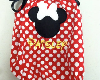 Red Dot Minnie Personalized Romper