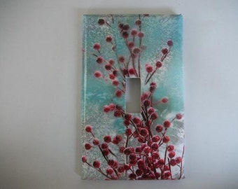 SWITCH PLATE COVER - Winter Berries