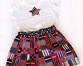 Americana Outfit  3T-READY TO SHIP