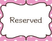 Reserved listing for Carrie Allen