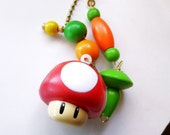 UGO Ceiling Fan/ Light Pull Chain, Red Mushroom Fan Pull, Decorative Fan Pull, The Game Collection