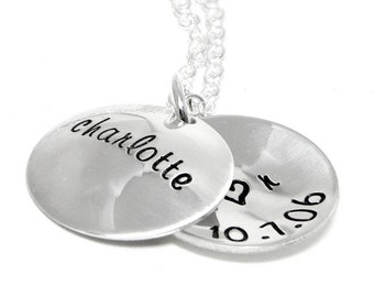 Personalized Locket - Hand Stamped Jewelry - Mom Necklace