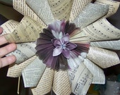Vintage Book Page and Sheet Music Wreath