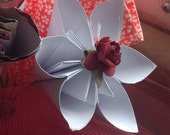 Kusudama Flower Cupcake Toppers or Wedding Decorations With Wooden Stems