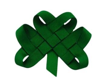 Shamrock Hair Clip or Lapel Pin - Notre Dame Fighting Irish - Ireland - St Patrick's Day Bow - Irish Wedding