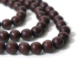 Wood Beads, 10mm Round Mocha Brown (824R)