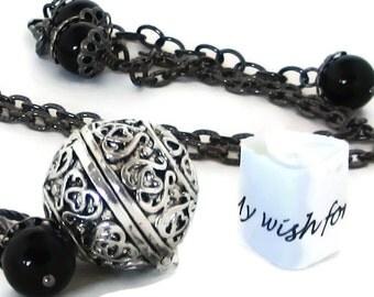 Inspirational Jewelry / Ball Locket / Inspirational Necklace / Locket Necklace