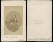 Early 1860s CDV Photo of QUEEN VICTORIA by Mayall - A Rare and Uncommon View