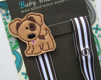 Puppy Dog Pacifier Clip, Dog Pacifier Clip, Animal Pacifier Clip, pcdog01