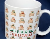 Beary Christmas Coffee Tea Mug, collectible, Russ