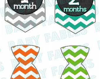 PERSONALIZED Monthly Baby Stickers Baby Month Stickers Baby Boy Month Stickers Monthly Photo Stickers Monthly Milestone Stickers Tie Sticker