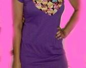 Cupcake cutie Purple Heart Mini Dress Top