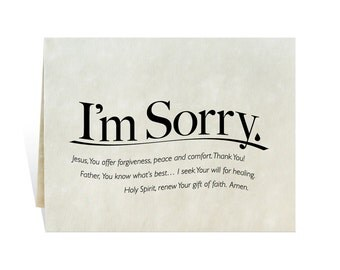 I'm Sorry printable card clip art prayer for apology, misunderstanding, mistake, miss you, hope, relationship, reconciliation and sympathy