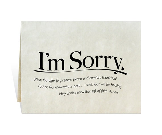 Quotes About Friendship Misunderstanding Simple I'm Sorry Printable Card Clip Art Prayer For Apology