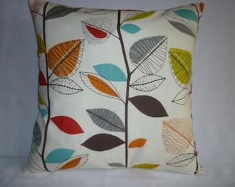 "BIG 22"" Pillow Orange Green Blue Designer Cotton Cushion Cover Pillowcases Shams Slips"