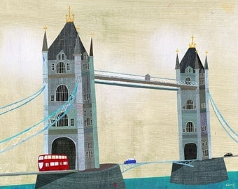 "Tower Bridge, London, Canvas Art Print 24"" x 18"""