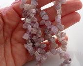 Rough mystic pink topaz briolette beads/ shards 8-11mm 1/2 strand