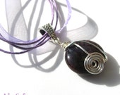 SALE Purple Necklace, Agate Gemstone Pendant, Gift for Her