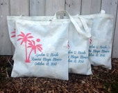 RESERVED FOR JADE 45 Custom Wedding Tote Bags - Eco-Friendly Natural Cotton Canvas