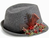 Fedora Hat for women, best for christmas party - dantiehandmade