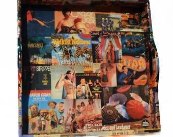 CRAZY World Music Record Cover Decoupaged Tray