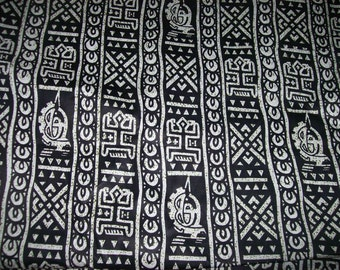African fabric black and white Dogon tribal print fabric per yard, Tribal print fabric, African quilting fabric