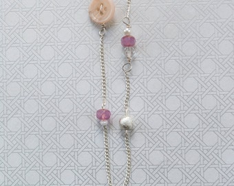 Beach and Button Necklace