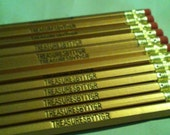 PERSONALIZED  Gold PENCILS Set of 12