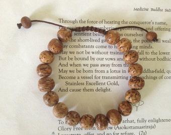 Tibetan mala bodhi seed Wrist mala bodhi seed beads from Bodh Gaya India BSM-24