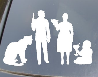 Archer Family Car Sticker set of 4