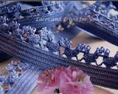 Blue Elastic Trim 12 Yards Baby Headband 1/2 inch wide Lot N09 Added Items Ship No Charge