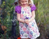 Magic Forest Girls cotton Dress   - Eco Friendly baby dress  - Boho girl dress - girl party dress