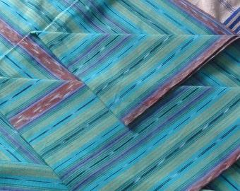 Guatemalan Fabric in Soft Aqua and Pastels